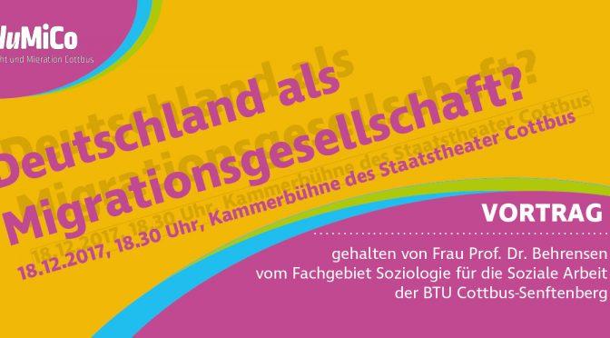 Vortrag: Deutschland als Migrationsgesellschaft?